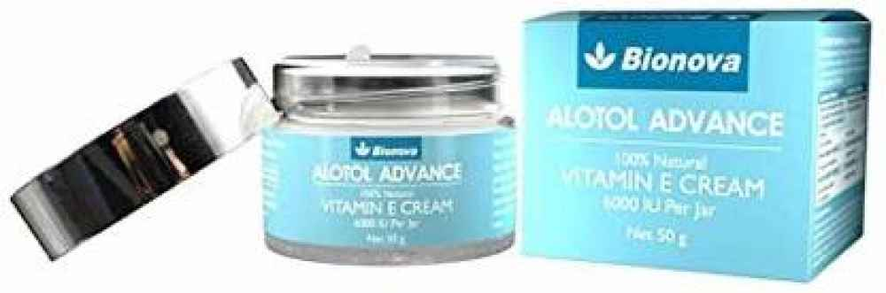 Alotol Advance deep moisturizing cream with 100% Natural Vitamin E - 50g  | For Normal, Dry and Sensitive Skin | Vegan Skin Care