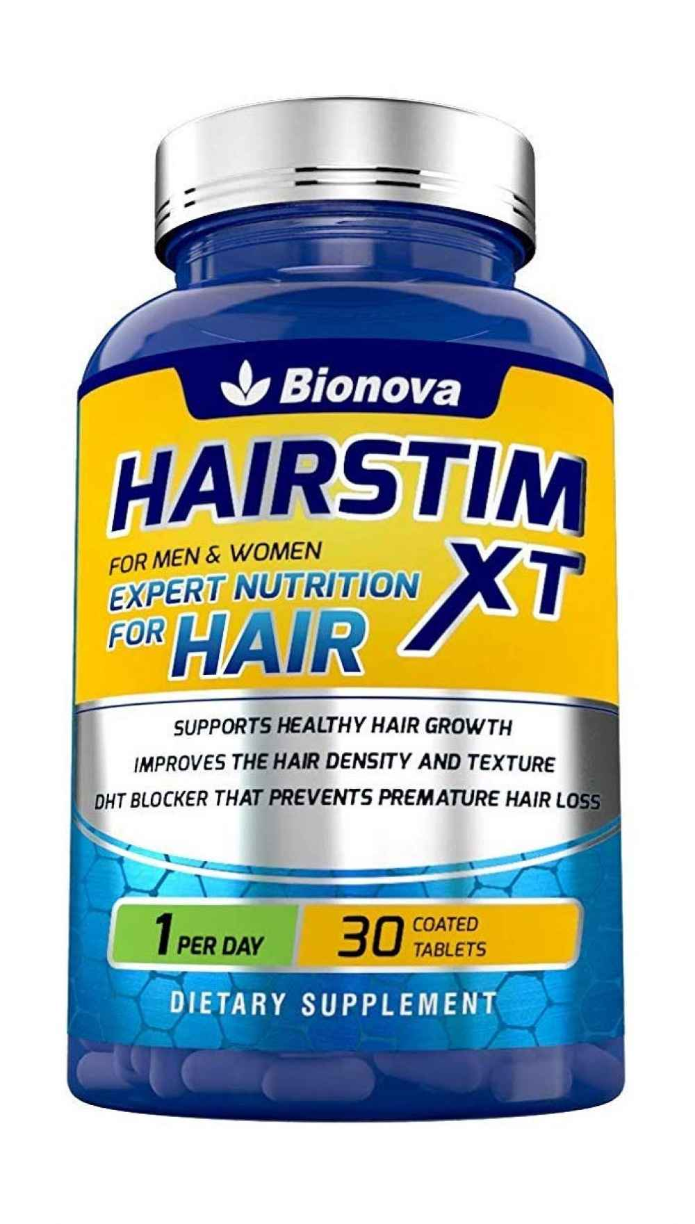 Hairstim-XT Biotin 10,000mcg with Amino Acids, Natural
