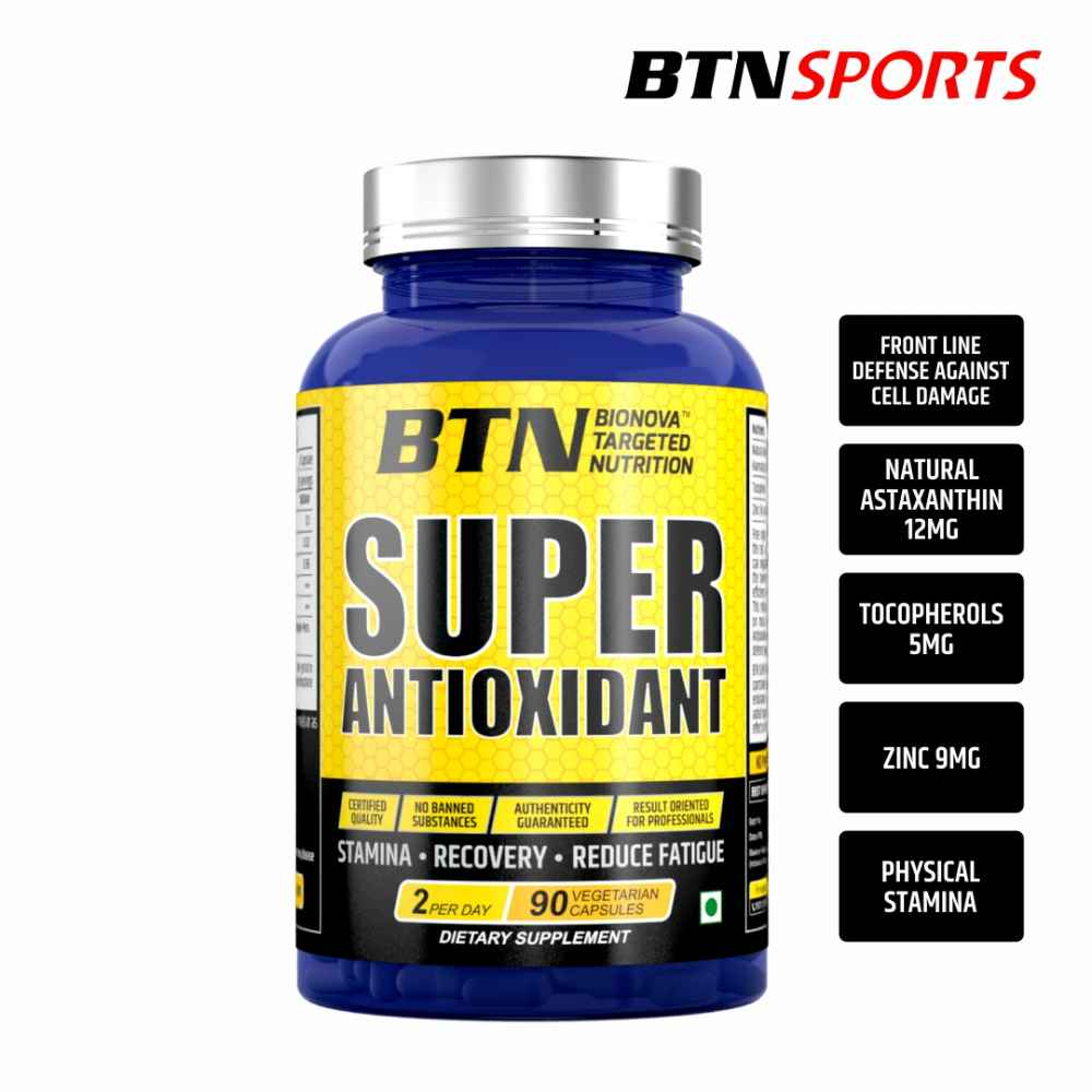 Super Antioxidant Astaxanthin 12 mg, with Natural Tocopherols & Zinc | For Energy, Eyes, Muscle & Skin | - 90 veg capsules