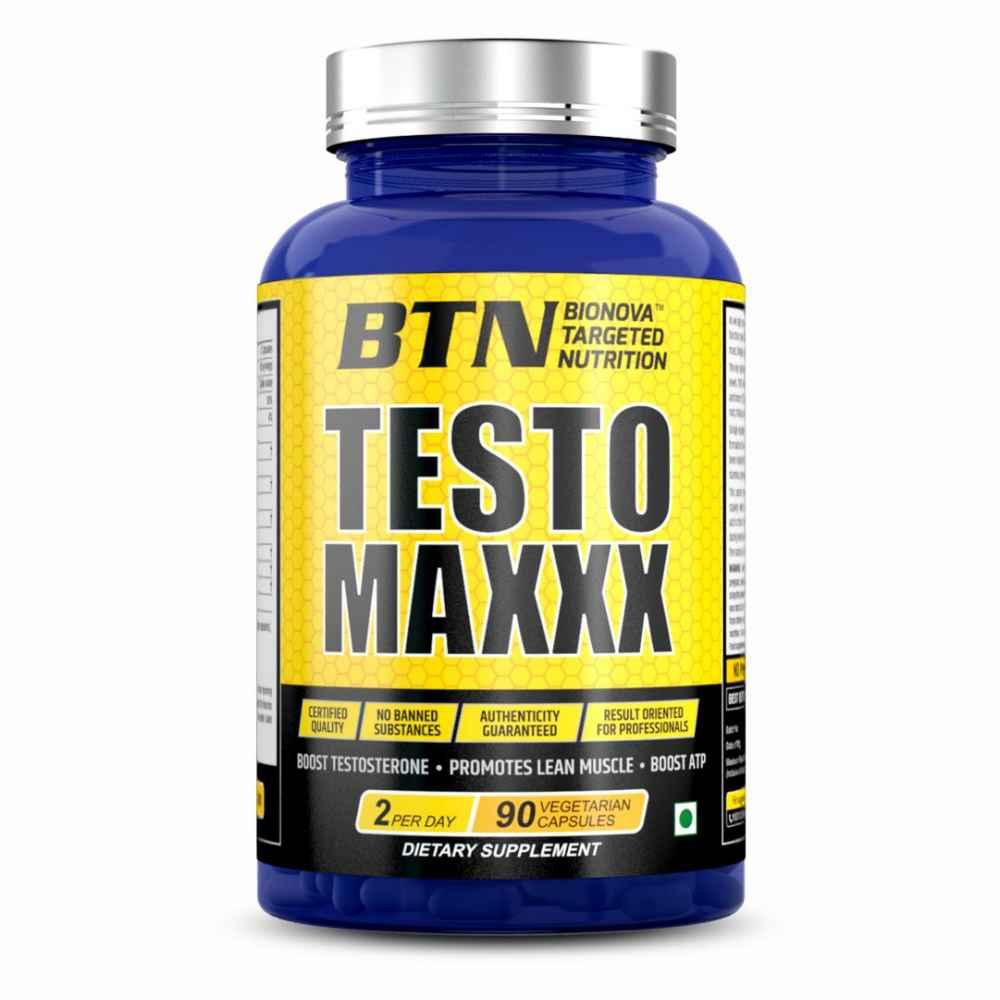 BTN Testomaxxx - Tribulus Terrestris With Shilajit, Boost Men Muscle, Testosterones, Growth and Energy in men- 90 Veg capsules