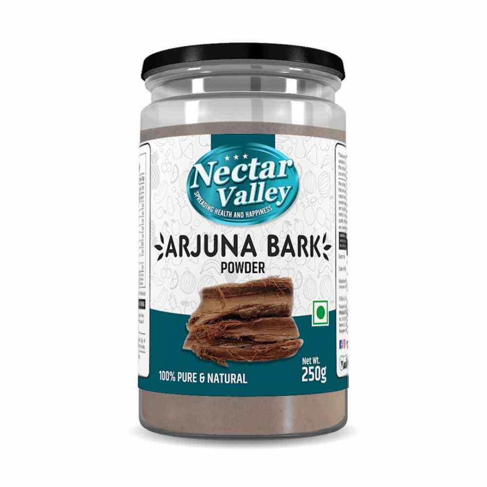 Nectar Valley Arjuna Bark/ Arjun chal powder (Terminalia Arjuna) Pure & Organically Processed bark powder - 250g