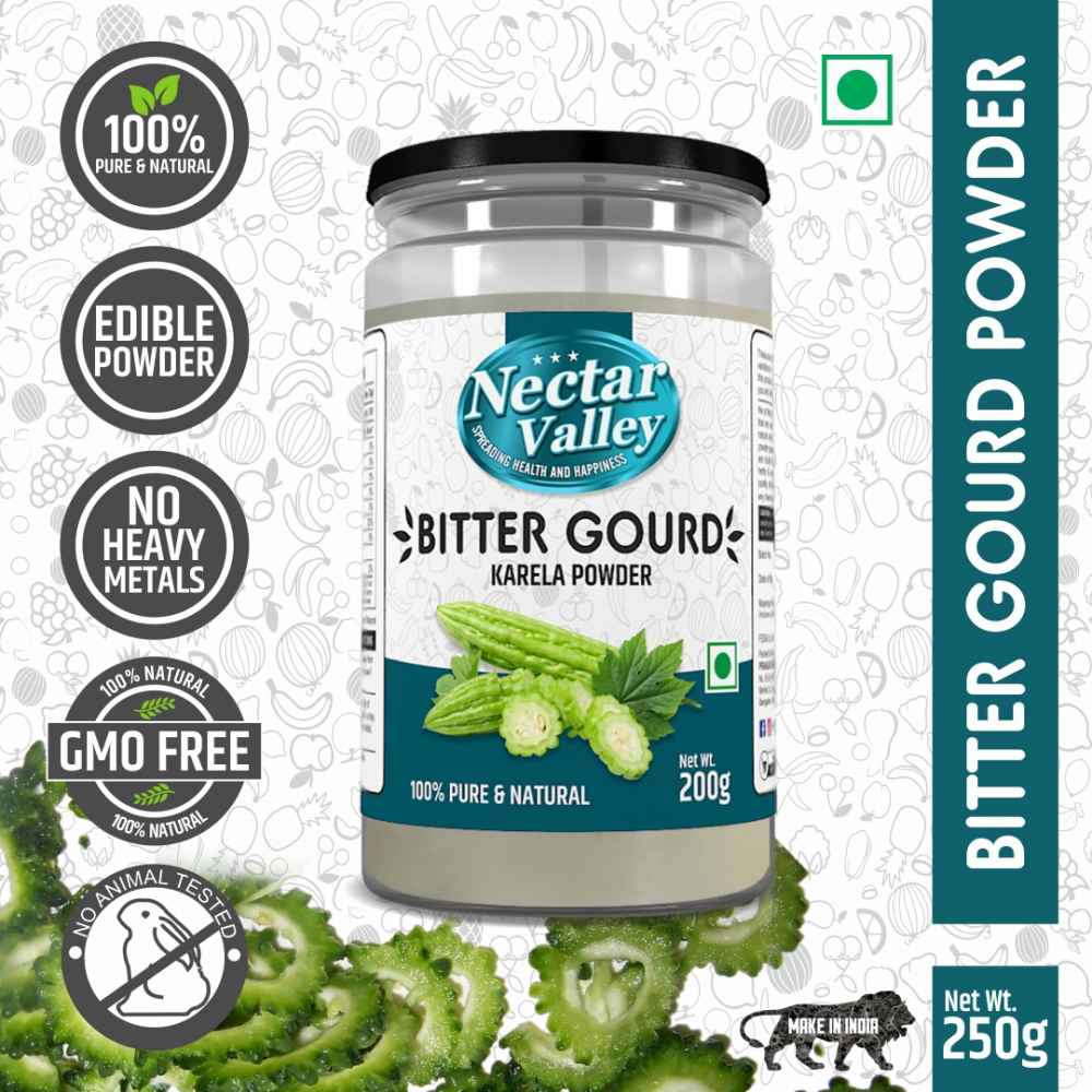 Nectar Valley Karela powder / Bitter Gourd Powder | free from toxic & harmful chemicals | 250g