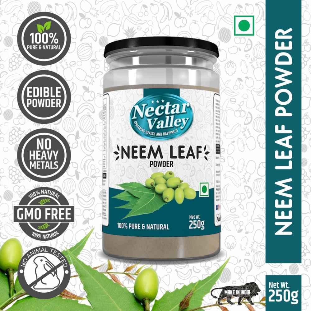 Nectar Valley Neem Powder (Azadirachta Indica) Organically processed neem leaves powder - 250g