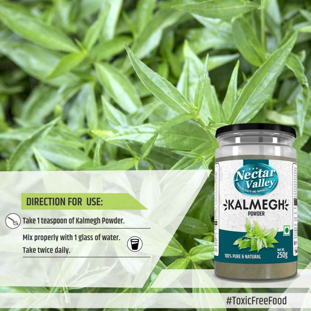 Kalmegh Powder (Andrographis Paniculata/Kalmegh) supports as natural liver tonic & blood purification | Free from toxic chemicals & heavy metals - 250g