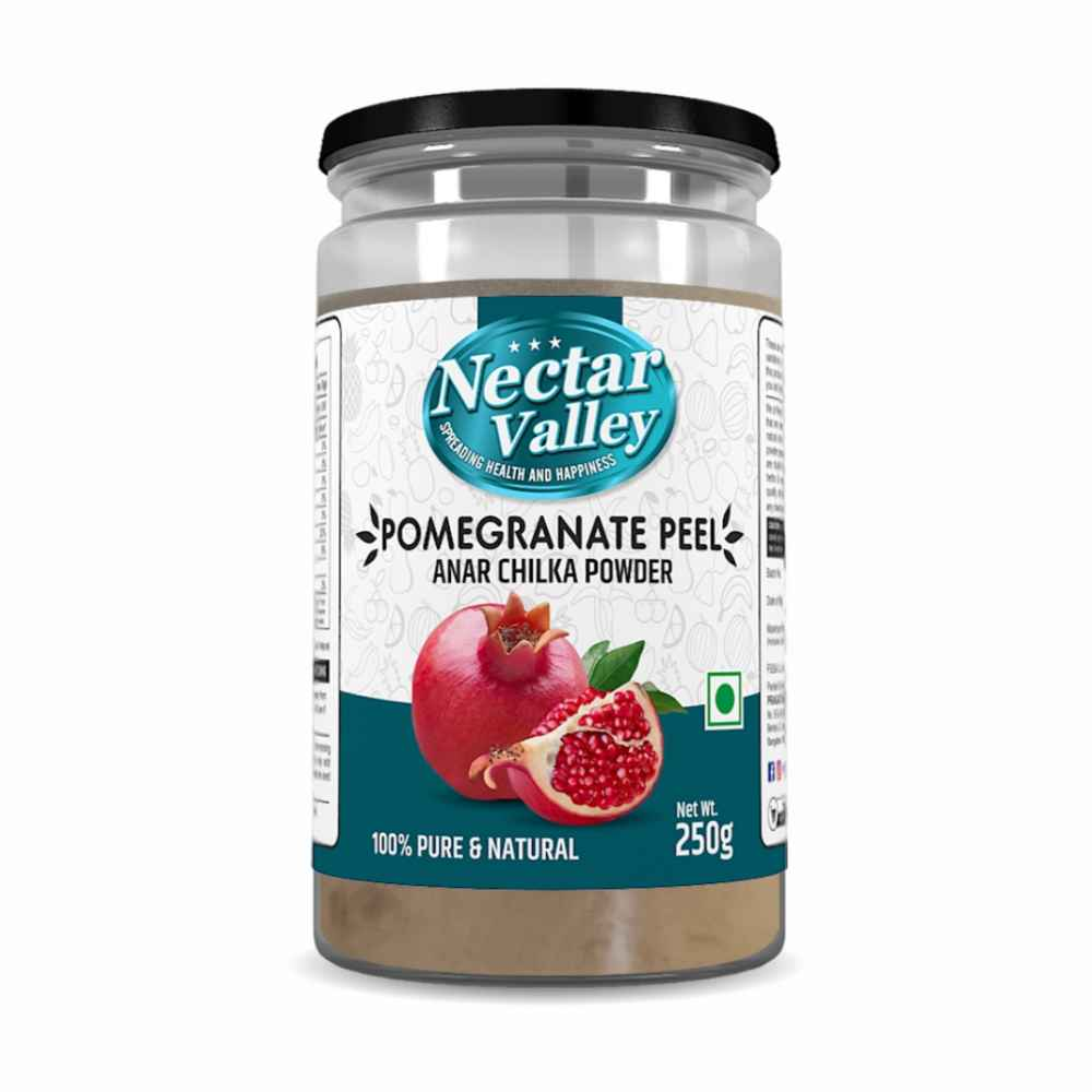 Nectar Valley Pomegranate Peel Powder (Anar Chilka) 250g 100% Pure and Natural | Organically processed