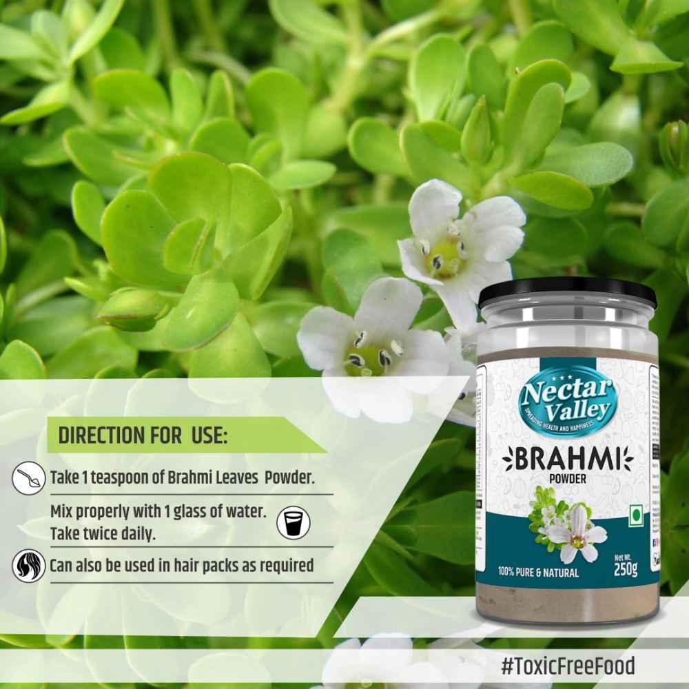 Nectar Valley Brahmi Powder 250g 100% Pure And Natural