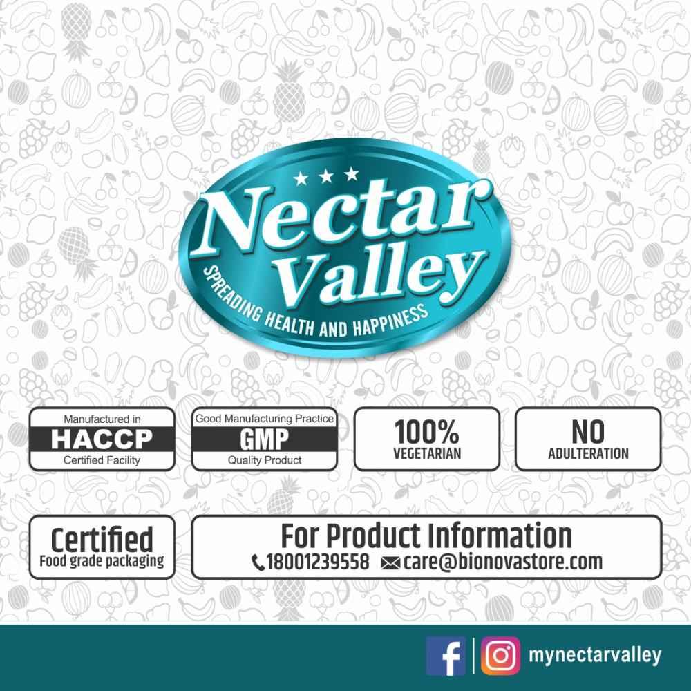Nectar Valley Mango Milkshake Powder, No Refined Sugar Added | Just Add 2 Spoons Powder In A Glass Of Milk | Makes 12 Glasses - 250g