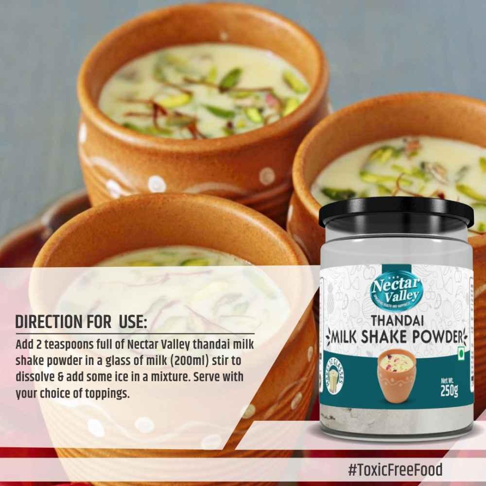 Thandai Milk Shake Powder | add 2 spoons powder in a glass of milk | Makes 12 glasses - 250g
