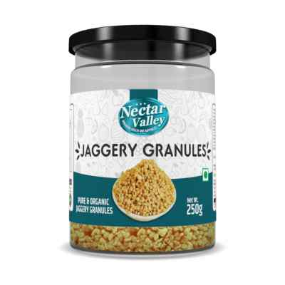 Nectar Valley Jaggery Granules (Gur) | Free from additives, pesticides & Nutritionally rich | Pure & Organically processed - 250g
