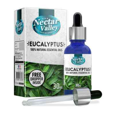 Nectar Valley Eucalyptus Essential Oil, 100% Pure | Natural Aromatherapy Oil for scent / Diffuser / Humidifier,  Massage - Steam Distilled (30ml)