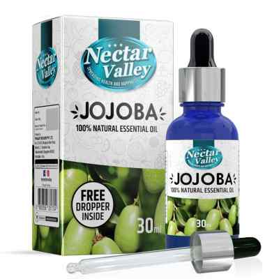 Nectar Valley Jojoba Essential Oil, 100% Pure   Natural Aromatherapy Oil For Scent / Diffuser / Humidifier, Massage - Steam Distilled (30ml)