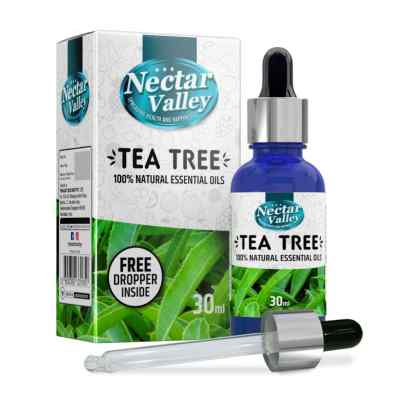 Nectar Valley Tea Tree Oil, 100% Pure | Natural Aromatherapy Oil For Scent / Diffuser / Humidifier, Massage - Steam Distilled (30ml)