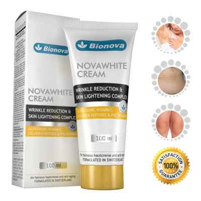 Bionova Novawhite Glutathione Cream for Glowing Skin Wrinkle Reduction Complex for Men and Women- Suitable For all Skin types, 100ml