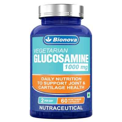 Vegetarian Glucosamine 1000mg Capsules - For Joint Health and Cartilage Support - 60's Pack