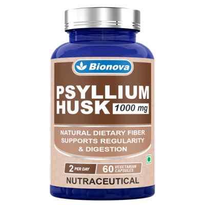 Bionova Psyllium Husk Vegetarian Capsules-60's Pack- for regularity and better digestion