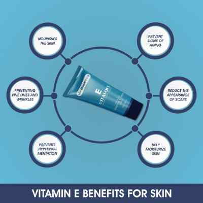 Natural Vitamin E cream, reduce appearance of wrinkles & stretch marks