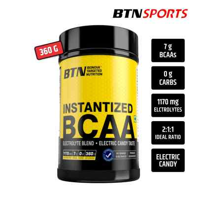 BTN Sports Instantized BCAA (2:1:1 Ratio) with eletrolytes, electric candy taste 360g