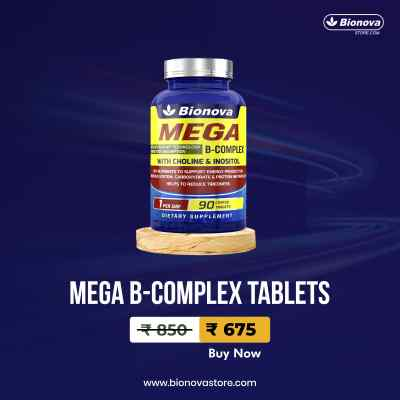 Mega B-Complex Tablets - 90's pack with Optiblock technology for better absorption