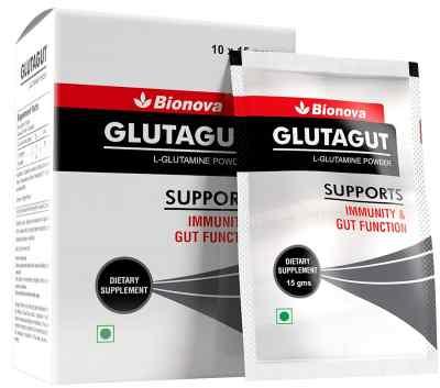 Bionova's Glutagut - L Glutamine Powder for Muscle health (10*15gms)