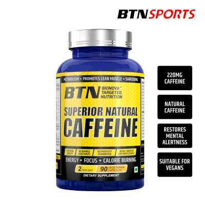 Natural caffeine supplement (2 capsules a day provides 220 mg caffeine)