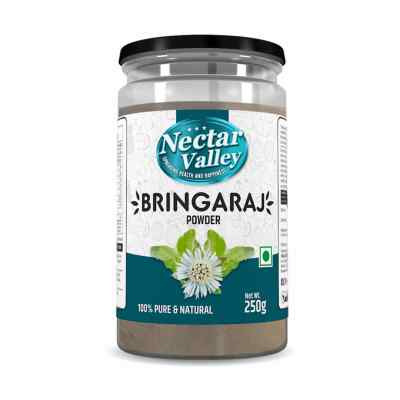 Nectar Valley Bhringraja Powder (Eclipta Alba) Pure & Organically Processed Fine Powder - 250g