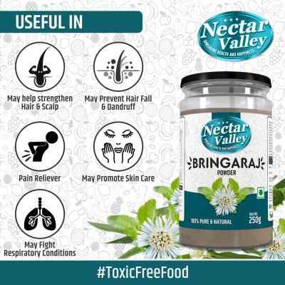 Nectar Valley Bhringraja Powder (Eclipta Alba) Pure & Organically Processed Fine Powder - 250g
