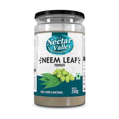 Nectar Valley Neem Leaf Powder (Azadirachta indica) 100% pure Edible & suitable for Anti-Dandruff Hair Packs & Anti-Acne Face Packs - 250g