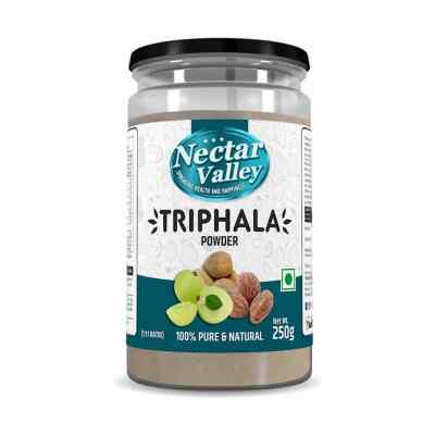 Nectar Valley Triphala Powder (1:1:1) of Amalaki (Emblica officinalis), Bibhitaki (Terminalia belerica) and Haritaki (Terminalia chebula)  - 250g
