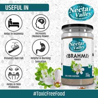Nectar Valley Brahmi (Bacopa monnieri ) Powder Pure & Organically Processed Fine Powder - 250g