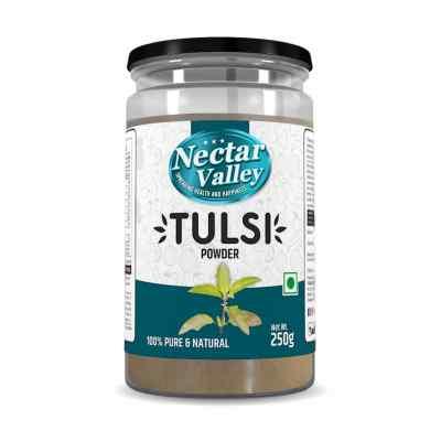 Nectar Valley Tulsi leaf powder (Ocimum sanctum) 250g | Pure and natural, organically processed fine quality holy basil powder