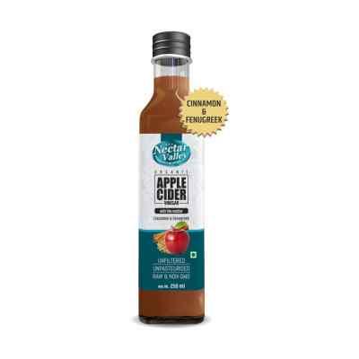 Nectar Valley Apple Cider 250 ml with mother (Cinnamol & Fenugreek)