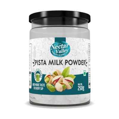 Nectar Valley Pista Milkshake Powder, No Refined Sugar Added | Just Add 2 Spoons Powder In A Glass Of Milk | Makes 12 Glasses - 250g