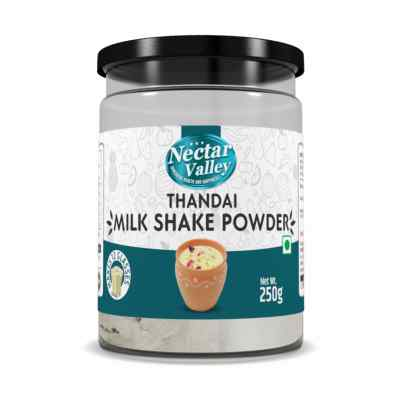 Nectar Valley Thandai Milk Shake Powder | just add 2 spoons powder in a glass of milk | Makes 12 glasses - 250g