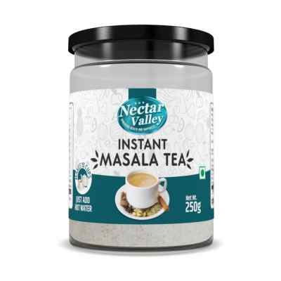 Nectar Valley Instant Masala Tea Premix (Chai) | With Natural Extracts Of Tea & Spices | Just Add Hot Water | Makes 15 Cups - 250g