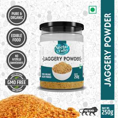 Nectar Valley Jaggery powder (Gur)   Free from additives, pesticides & Nutritionally rich  Pure & Organically processed - 250g